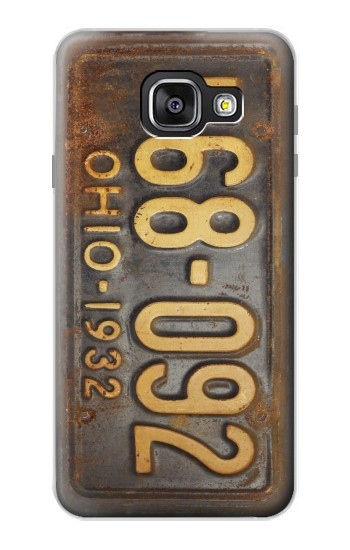 Printed Vintage Car License Plate Samsung Galaxy A3 (2016) Case
