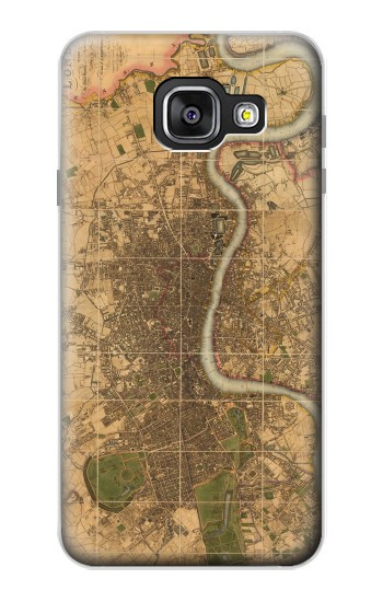 Printed Vintage Map of London Samsung Galaxy A3 (2016) Case
