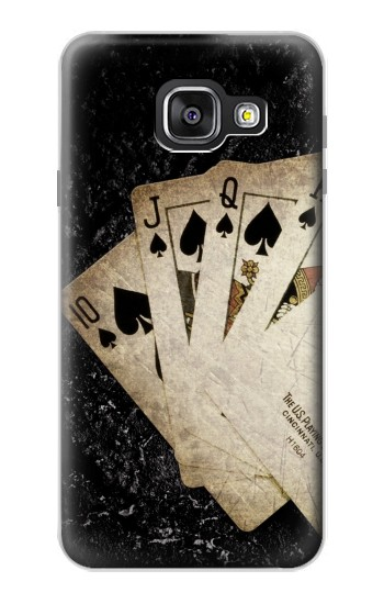 Printed Vintage Royal Straight Flush Cards Samsung Galaxy A3 (2016) Case