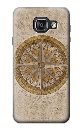 Printed Windrose Circle Stamp Samsung Galaxy A3 (2016) Case