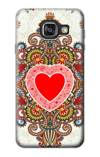 Printed Heart Pattern Line Art Samsung Galaxy A3 (2016) Case