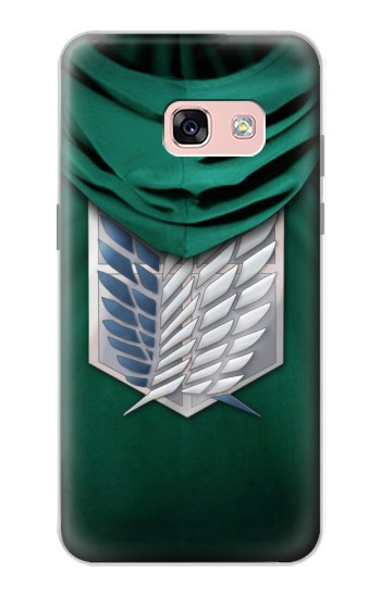 Printed Attack on Titan Scouting Legion Rivaille Green Cloak Samsung Galaxy A3 (2017) Case