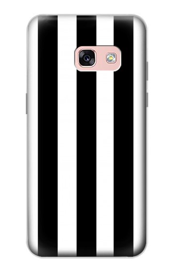 Printed Black and White Vertical Stripes Samsung Galaxy A3 (2017) Case