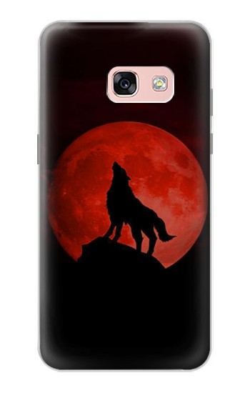 Printed Wolf Howling Red Moon Samsung Galaxy A3 (2017) Case