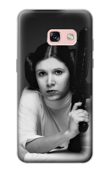 Printed Princess Leia Carrie Fisher Samsung Galaxy A3 (2017) Case