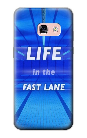Printed Life in the Fast Lane Swimming Pool Samsung Galaxy A3 (2017) Case