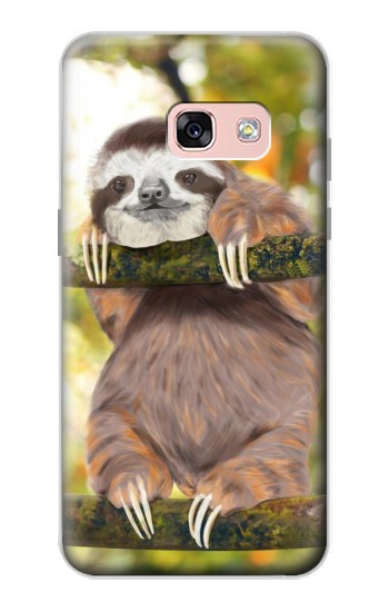 Printed Cute Baby Sloth Paint Samsung Galaxy A3 (2017) Case