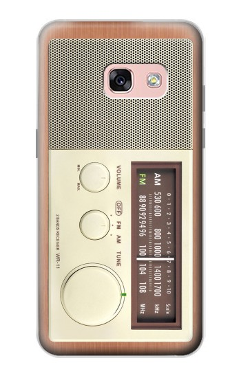 Printed FM AM Wooden Receiver Graphic Samsung Galaxy A3 (2017) Case