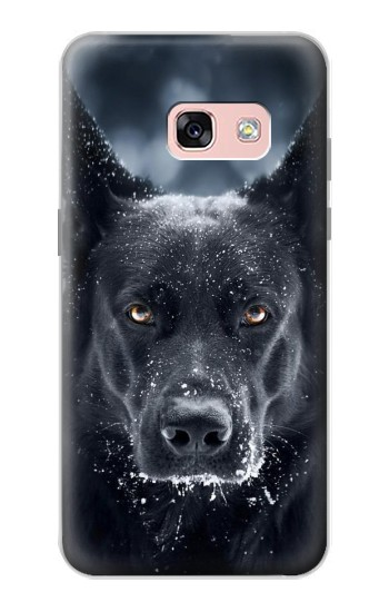 Printed German Shepherd Black Dog Samsung Galaxy A3 (2017) Case