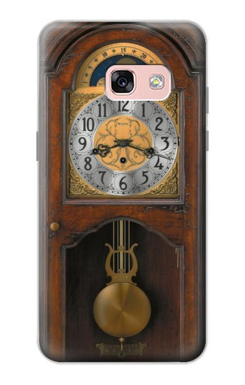 Printed Grandfather Clock Antique Wall Clock Samsung Galaxy A3 (2017) Case