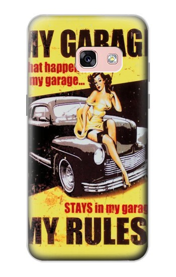 Printed My Garage Pinup Girl Samsung Galaxy A3 (2017) Case
