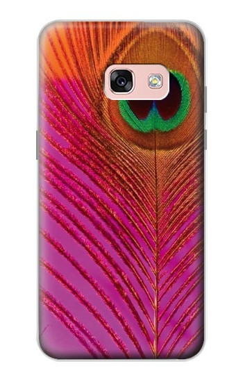 Printed Pink Peacock Feather Samsung Galaxy A3 (2017) Case