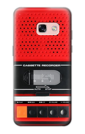 Printed Red Cassette Recorder Graphic Samsung Galaxy A3 (2017) Case