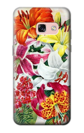 Printed Retro Art Flowers Samsung Galaxy A3 (2017) Case