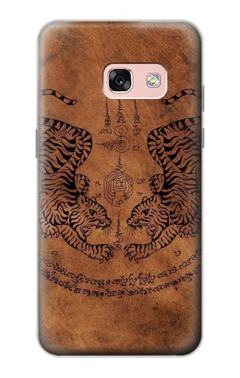 Printed Sak Yant Twin Tiger Samsung Galaxy A3 (2017) Case
