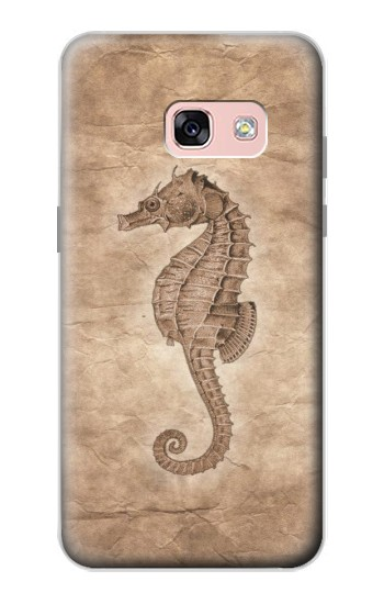 Printed Seahorse Old Paper Samsung Galaxy A3 (2017) Case