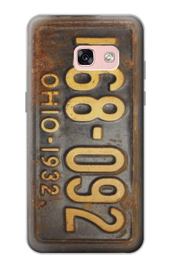 Printed Vintage Car License Plate Samsung Galaxy A3 (2017) Case