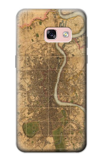 Printed Vintage Map of London Samsung Galaxy A3 (2017) Case