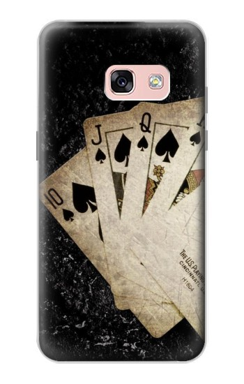 Printed Vintage Royal Straight Flush Cards Samsung Galaxy A3 (2017) Case