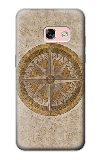 Printed Windrose Circle Stamp Samsung Galaxy A3 (2017) Case