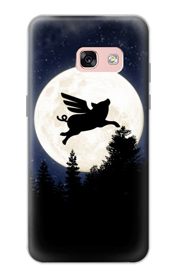 Printed Flying Pig Full Moon Night Samsung Galaxy A3 (2017) Case