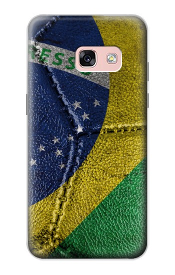 Printed Brazil Flag Vintage Football 2018 Samsung Galaxy A3 (2017) Case