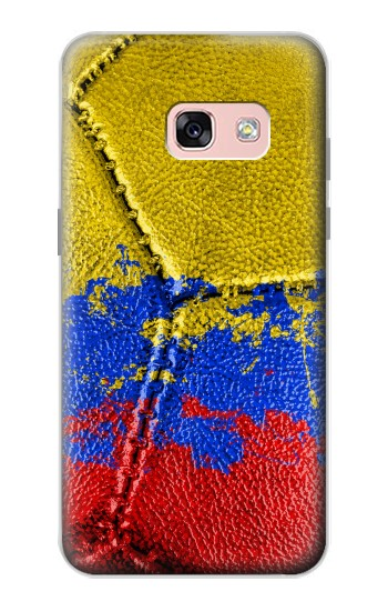 Printed Colombia Flag Vintage Football 2018 Samsung Galaxy A3 (2017) Case