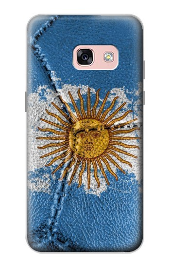 Printed Argentina Flag Vintage Football 2018 Samsung Galaxy A3 (2017) Case