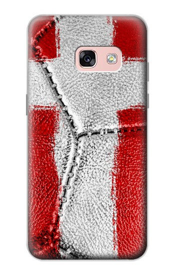 Printed Denmark Flag Vintage Football 2018 Samsung Galaxy A3 (2017) Case
