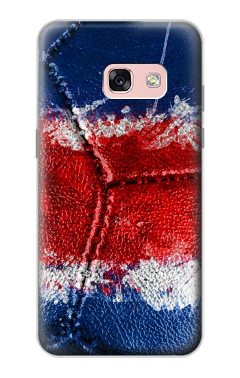 Printed Costa Rica Flag Vintage Football 2018 Samsung Galaxy A3 (2017) Case