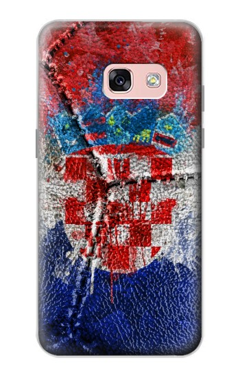 Printed Croatia Flag Vintage Football 2018 Samsung Galaxy A3 (2017) Case