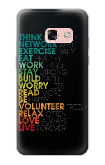 Printed Think Positive Words Quotes Samsung Galaxy A3 (2017) Case
