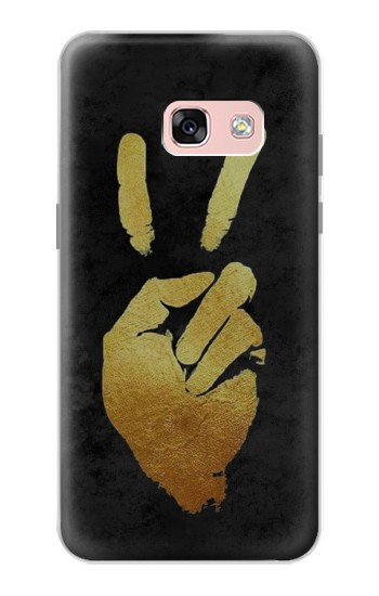 Printed Victory Hand Sign Samsung Galaxy A3 (2017) Case