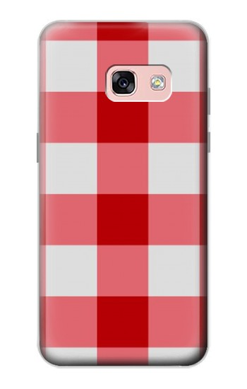 Printed Red Gingham Samsung Galaxy A3 (2017) Case