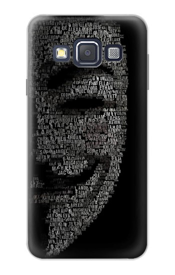 Printed V Mask Guy Fawkes Anonymous Samsung Galaxy A3, A3 Duos Case