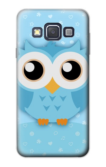 Printed Cute Blue Owl Samsung Galaxy A3, A3 Duos Case