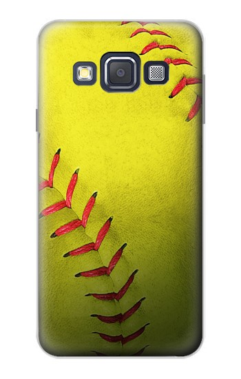 Printed Yellow Softball Ball Samsung Galaxy A3, A3 Duos Case