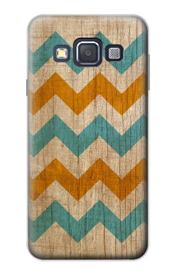 Printed Vintage Wood Chevron Samsung Galaxy A3, A3 Duos Case
