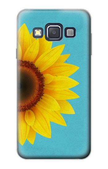 Printed Vintage Sunflower Blue Samsung Galaxy A3, A3 Duos Case