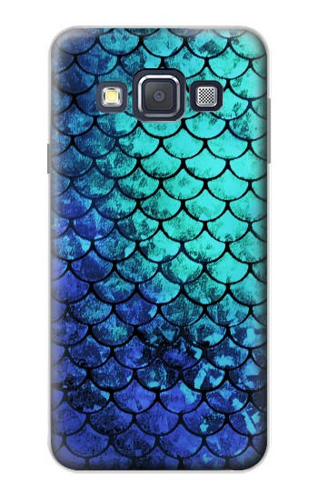 Printed Green Mermaid Fish Scale Samsung Galaxy A3, A3 Duos Case