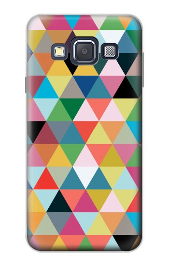 Printed Triangles Vibrant Colors Samsung Galaxy A3, A3 Duos Case