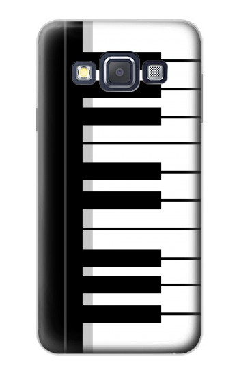 Printed Black and White Piano Keyboard Samsung Galaxy A3, A3 Duos Case