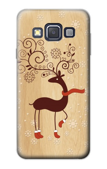 Printed Wooden Raindeer Samsung Galaxy A3, A3 Duos Case