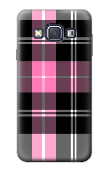 Printed Pink Plaid Pattern Samsung Galaxy A3, A3 Duos Case
