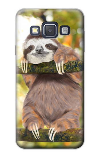 Printed Cute Baby Sloth Paint Samsung Galaxy A3, A3 Duos Case