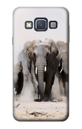 Printed African Elephant Samsung Galaxy A3, A3 Duos Case