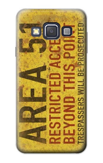 Printed Area 51 Restricted Access Warning Sign Samsung Galaxy A3, A3 Duos Case