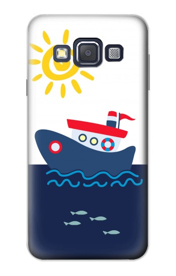 Printed Cartoon Fishing Boat Samsung Galaxy A3, A3 Duos Case