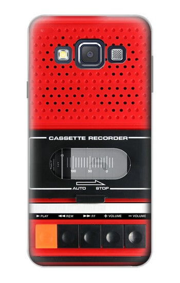 Printed Red Cassette Recorder Graphic Samsung Galaxy A3, A3 Duos Case