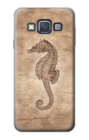 Printed Seahorse Old Paper Samsung Galaxy A3, A3 Duos Case
